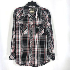 BKE Slim Fit Button Down LS in Sz Large